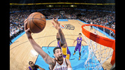 OKLAHOMA CITY, OK - MARCH 24: Enes Kanter #34 of the Oklahoma City Thunder shoots the ball against the Los Angeles Lakers on March 24, 2015 at the Chesapeake Energy Arena in Oklahoma City, Oklahoma.