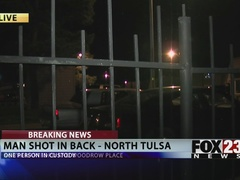 Man shot in the back in north Tulsa