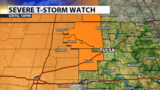 Severe Thunderstorm Watch in parts of Green Country until 10 p.m.