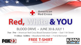 Help save lives through the Red, White and You Blood Drive