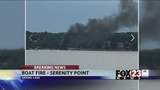 VIDEO: Two injured in boat fire on Grand Lake