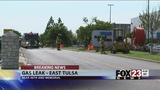 Road re-opens after gas leak in east Tulsa