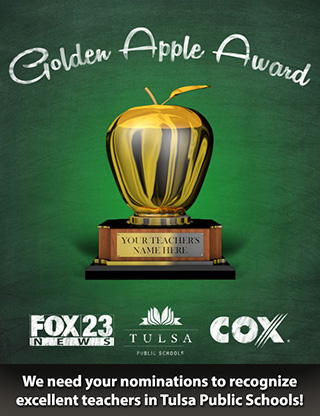 Golden Apple Award - nominate a Tulsa teacher