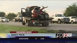 Car on fire on SH-51 in Wagoner County