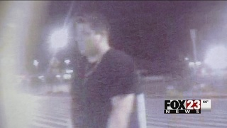 Police work to identify man accused of setting car on fire at Tulsa Walmart