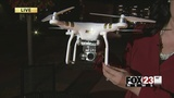 VIDEO: Man uses drone to follow suspects after downtown Tulsa break-in