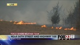 At least 40 acres burned in north Tulsa grass fire
