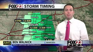 Thunderstorms possible to wrap up the weekend
