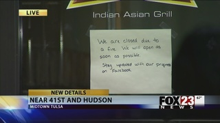 Kitchen fire halts business at Tulsa
