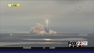 SpaceX launches a rocket from NASA