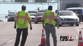 ODOT contract worker hit by truck, three being questioned after hit and run