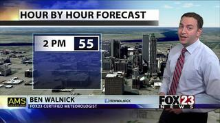 Cooler temperatures move in with rain chances not far behind