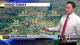 Slow warm up with some storm chances