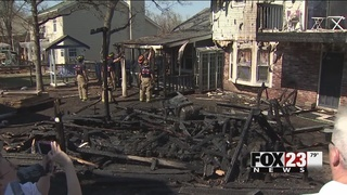 Home damaged in Sand Springs grass fire
