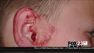 Nowata mother says son was stabbed in ear with lollipop stick on school bus