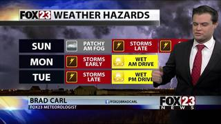 Severe storms possible for Sunday