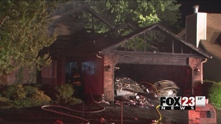 Jenks home a total loss after fire