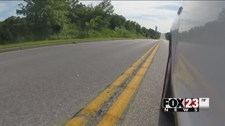 Sand Springs adds rumble strip to help prevent wrecks along 41st Street