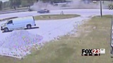 Surveillance footage released of Coweta rollover crash