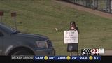 Panhandling teacher receives major support from community.