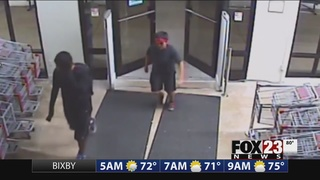 Tulsa police work to identify duo accused of stealing from Name Brand Clothing
