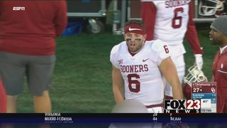 Mayfield snubbed as Sooners roll over Kansas