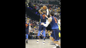 Oklahoma City Thunder forward Paul George (13) shoots against the Indiana Pacers during the first half of an NBA basketball game in Indianapolis, Wednesday, Dec. 13, 2017. (AP Photo/Michael Conroy)