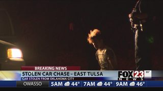 Two in custody, one on the loose after east Tulsa chase