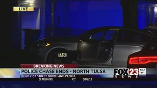 Sand Springs chase ends in north Tulsa