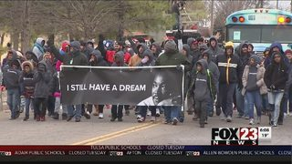VIDEO: Hundreds fix up Tulsa high school on Martin Luther King Jr. Day