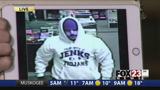Police work to ID Tulsa novelty store robber