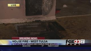 Floor furnace catches fire in west Tulsa
