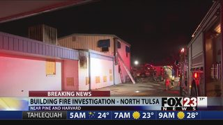 Officials investigate fire at former Harvard Cleaners in Tulsa