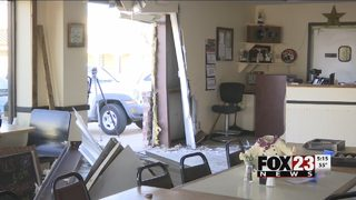 Driver crashes into Bixby business