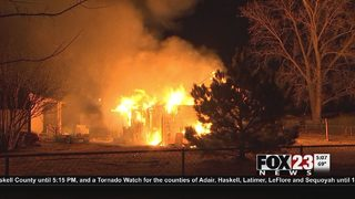 Garage apartment goes up in flames in Berryhill