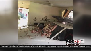 Woman flown to hospital after truck crashes into Bartlesville apartment
