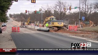 Midtown road work continues after massive line break, road buckling