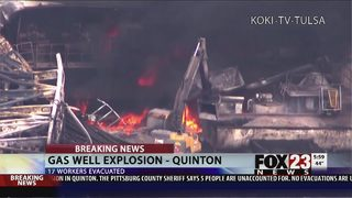 VIDEO: Fire continues to burn at Oklahoma gas well