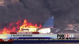 VIDEO: Five remain missing after fire at Quinton gas well