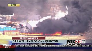 VIDEO: Gas well fire affects Oklahoma town