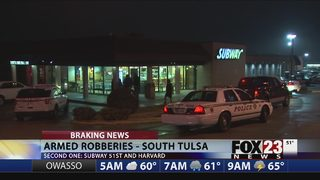 Police investigate two south Tulsa robberies