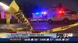 VIDEO: Police: Robbery suspect in hospital after shooting at Tulsa liquor store