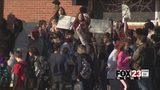 VIDEO: Sand Springs students walk out over education budget, security
