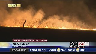 Multiple fires burn in Creek County