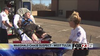 Marshals use taser on west Tulsa chase suspect