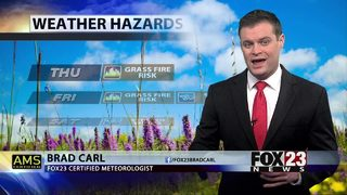 Elevated fire risk to wrap up the work week