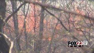 Grass fires burns near Ochelata