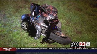 Police search for motorcyclist after chase, crash on Creek turnpike
