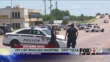 VIDEO: Officer-involved shooting investigation closes east Tulsa road