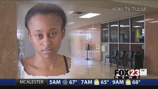 VIDEO: Mother accused of abusing child at Tulsa County courthouse